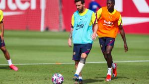 Messi treina com proteção na perna e deve jogar em Barcelona x Bayern