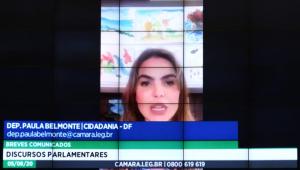 Deputada Paula Belmonte (Cidadania-SP) está internada com covid-19