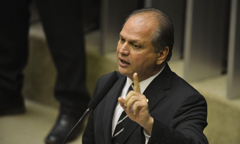 Deputado Ricardo Barros durante sessão de votação na Câmara