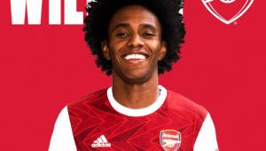 Arsenal oficializa a contratação de Willian por três temporadas