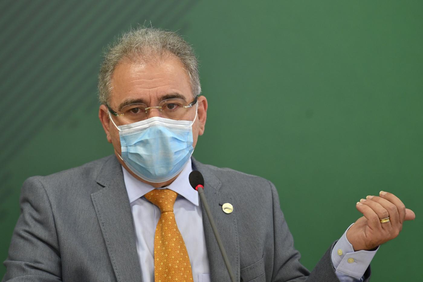 Marcelo Queiroga faz pronunciamento após reunião de comitê da Covid-19