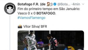 Botafogo anuncia vaga de estágio após tuitar 'Vamos, Flamengo'; clube nega relação
