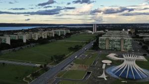 Vista aérea da Esplanada dos Ministérios, em Brasília