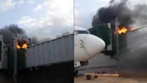 Incêndio em ponte de embarque afeta operações do aeroporto de São Luís; veja o vídeo