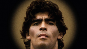 retrato de diego maradona