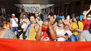 MTSR protesta na prefeitura de santo andré