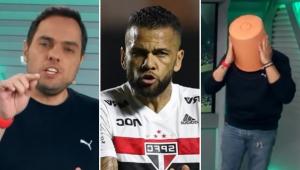 Spimpolo ironiza Daniel Alves e desabafa após 4 a 2: 'O São Paulo virou a casa da mãe Joana'