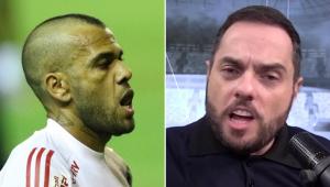 Spimpolo eleva o tom contra Daniel Alves: 'Não está feliz no São Paulo? Pega as suas coisas e rua'