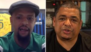 Elogiado por Felipe Melo, Vampeta relembra ajuda ao amigo no Flamengo: 'Ele já jogava muito'