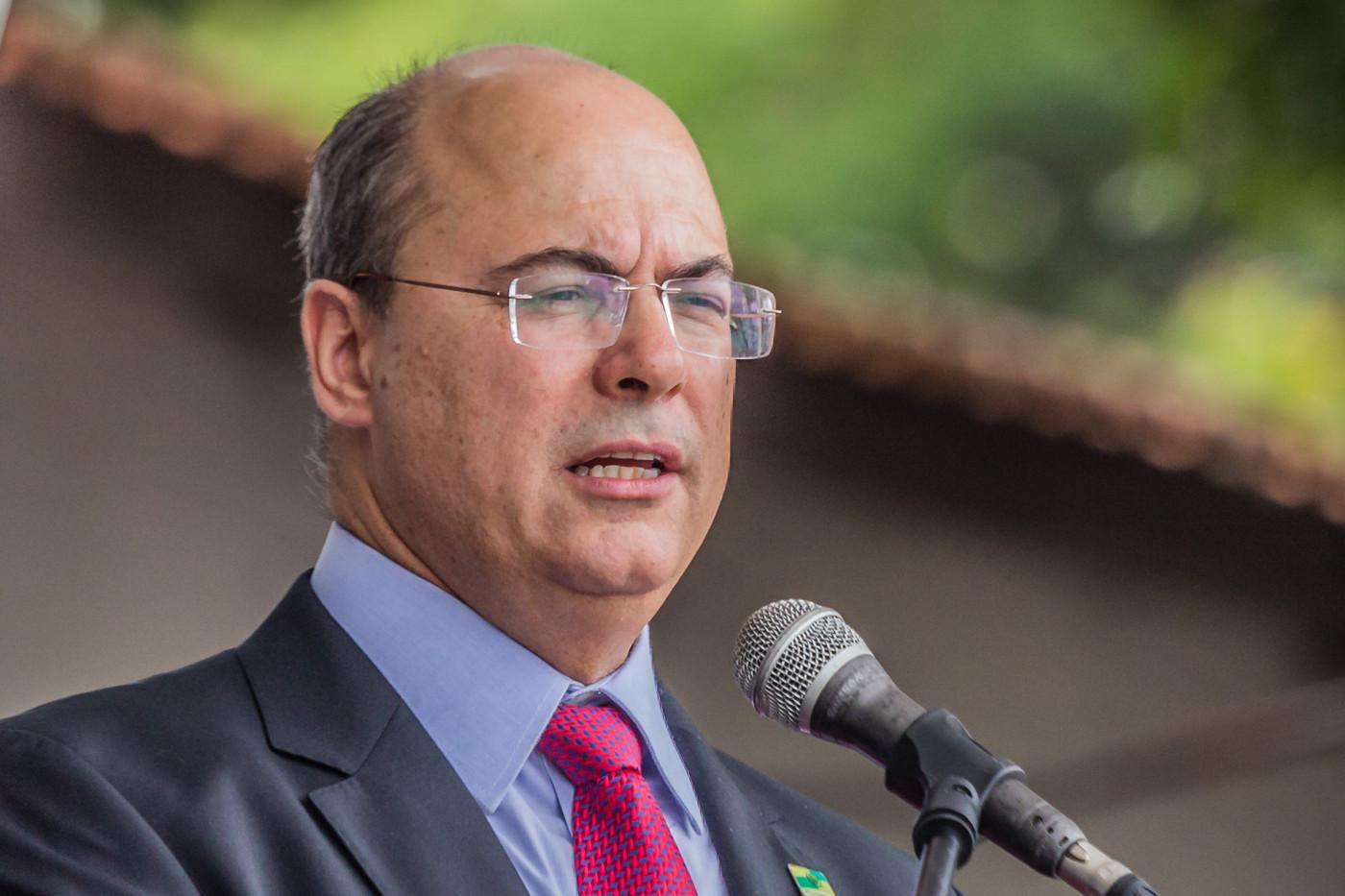 O governador afastado do Rio de Janeiro Wilson Witzel