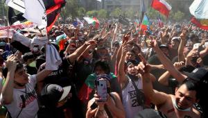Novos protestos marcam um ano das manifestações no Chile