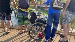 Cadeirante morre após ser jogado em rio de Bauru