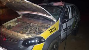 Explosão em viatura deixa dois policiais militares feridos no Paraná