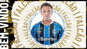 Grêmio anuncia a contratação de Falcão para o time de futebol 7