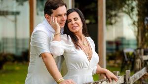 Gretchen se casa pela 18ª vez com festa adaptada à pandemia; veja imagens