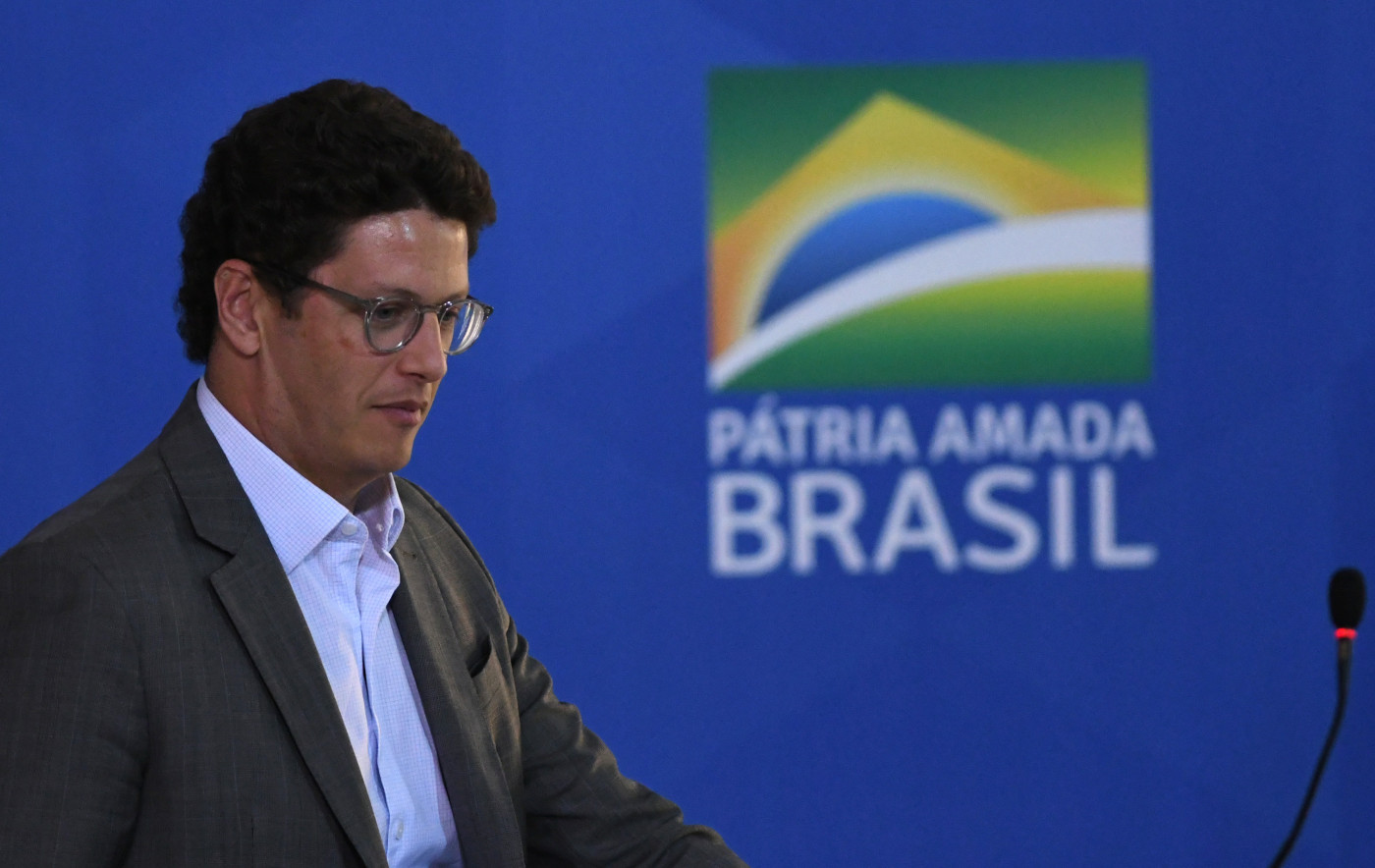 O ministro do meio ambiente, Ricardo Salles, durante evento do governo federal