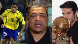 Quem foi melhor: Rivaldo ou Kaká? Veja a opinião de Vampeta