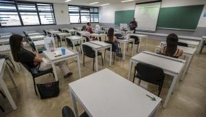 Sala de aula vazia durante a pandemia