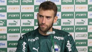 Alan Empereur em entrevista coletiva no Palmeiras