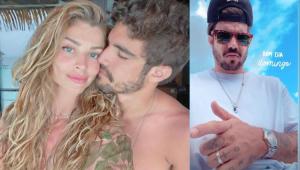 Após boatos de separação, Caio Castro posta foto mostrando aliança