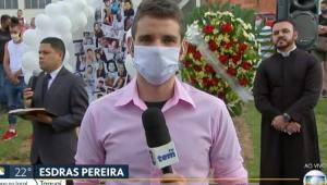 Repórter chora ao vivo em cobertura de acidente em Taguaí: 'É difícil'