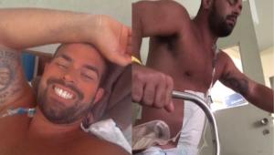 Borat, do 'Amor e Sexo', posta vídeo andando após ser baleado no Rio: 'Não vou desistir'