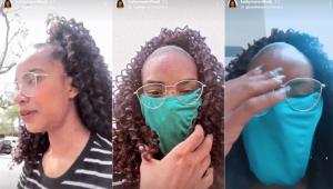 Funkeira esquece máscara e usa calcinha como proteção para entrar em shopping
