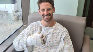 Grosjean recebe alta do hospital após 'ver a morte de perto' em grave acidente no Bahrein