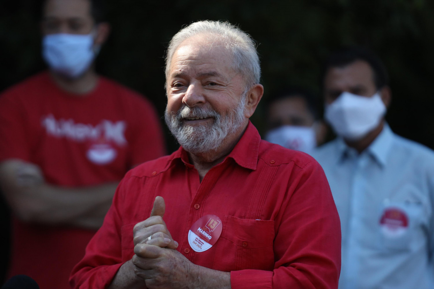 Ex-presidente Lula em ato público