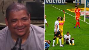 Vampeta brinca após Corinthians reclamar da arbitragem: 'O mundo está esquisito'