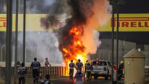 Grosjean sofre acidente e carro explode na Fórmula 1; assista