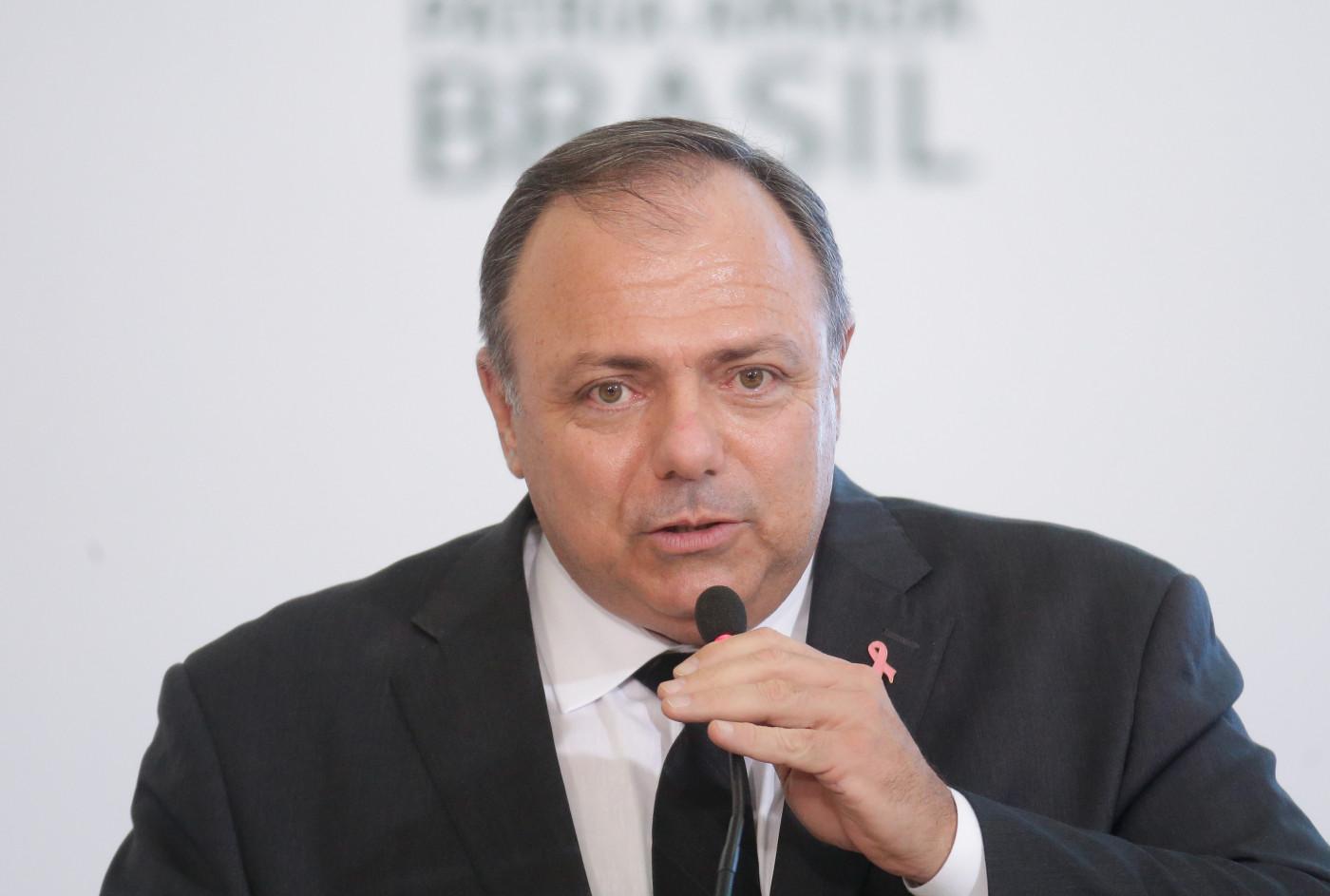 Eduardo Pazuello, ministro da Saúde do governo BOlsonaro