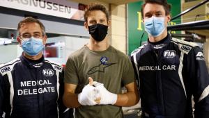 F1: Grosjean se emociona ao encontrar médicos que o socorreram; veja o momento
