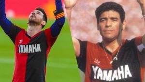 Newell's Old Boys põe à venda réplicas de camisa de 1993 usada por Maradona e Messi