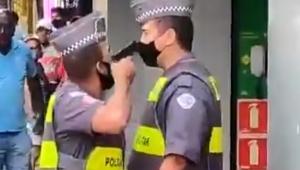 PM que protagonizou vídeo apontando arma para superior é preso em flagrante