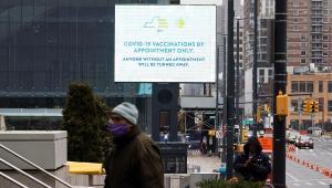 Campanha de Nova York é suspensa por falta de vacinas contra a Covid-19