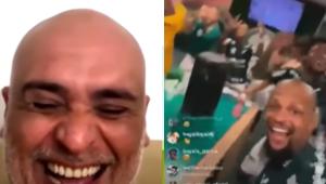 Música e provocação: Marcos e elenco do Palmeiras fazem festa após 4 a 0 no Corinthians