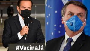 Datafolha: 46% acreditam que Doria fez mais contra pandemia do que Bolsonaro