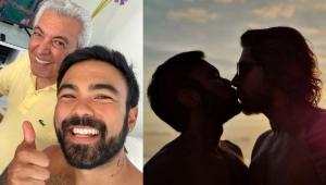 Filho de Mauricio de Sousa rebate seguidora que criticou foto dele beijando o marido