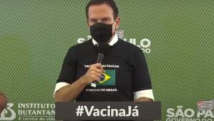 Doria diz que aprovação de vacinas deve servir de lição aos que 'desprezam a vida'