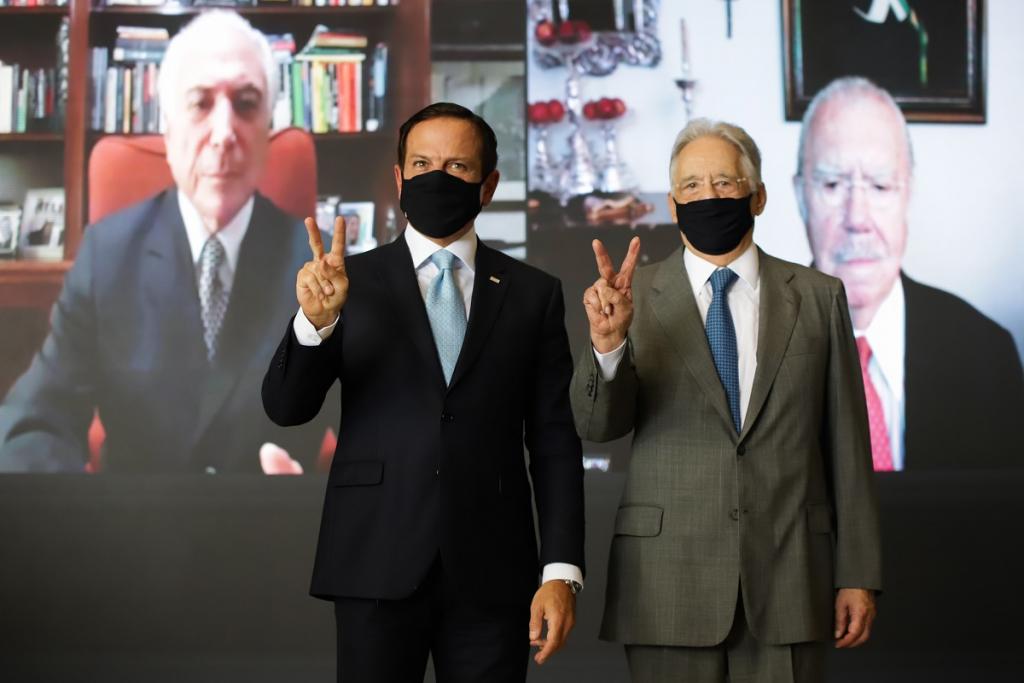 Doria reúne José Sarney, Michel Temer e FHC em ato pró-vacina contra Covid-19 – Jovem Pan