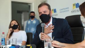 Prefeito de Porto Velho anuncia colapso na saúde por alta de casos da Covid-19
