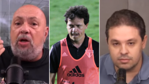Nilson Cesar e Bruno Prado batem boca ao comentar 'teimosia' de Diniz no São Paulo