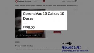 Governo inicia ação para combater venda de vacinas falsas contra a Covid-19