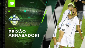 Santos ATROPELA Boca e está na FINAL da Libertadores; Corinthians GOLEIA Flu | CAMISA 10 -14/01/21