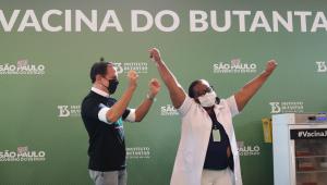 Monica Calazans vacinação Doria