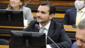 O deputado Celso Sabino na Câmara dos Deputados