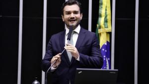 O deputado federal Celso Sabino durante votação de propostas no plenário da Câmara dos Deputados