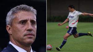 Crespo despistou ao ser perguntado sobre a situação de Hernanes no São Paulo
