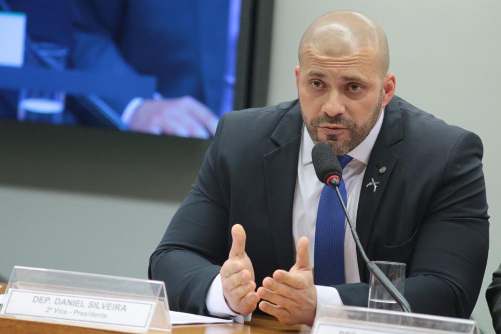O deputado federal Daniel Silveira